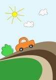 Carro na estrada Foto de Stock