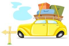 Carro na excursão Imagens de Stock Royalty Free