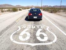 Carro na rota 66 Fotografia de Stock