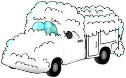Carro nevado Imagen de archivo libre de regalías