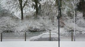 Carro nevado Fotos de Stock Royalty Free