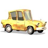 Carro no. 19 dos desenhos animados Imagens de Stock