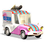 Carro no. 24 dos desenhos animados Imagem de Stock Royalty Free