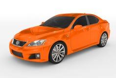 Carro no branco - pintura vermelha, vidro matizado - lado para trás-esquerdo Imagens de Stock