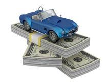 Carro no dinheiro Imagem de Stock Royalty Free