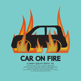 Carro no fogo Foto de Stock Royalty Free