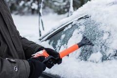Carro no inverno fotografia de stock