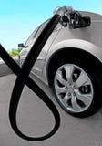 Carro no posto de gasolina Imagem de Stock