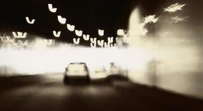 Carro no túnel Imagens de Stock