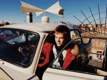 Carro no telhado Foto de Stock