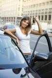 Carro novo Fotografia de Stock Royalty Free