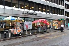 Carro Nueva York de la comida Imágenes de archivo libres de regalías