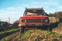Carro Off Road do vintage foto de stock