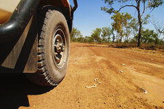 Carro Offroad no interior australiano Foto de Stock Royalty Free