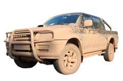 Carro offroad sujo isolado Imagens de Stock