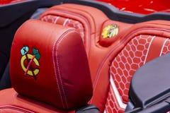 Carro oficial dos Chicago Blackhawks foto de stock royalty free
