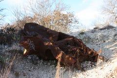 Carro oxidado Imagem de Stock Royalty Free