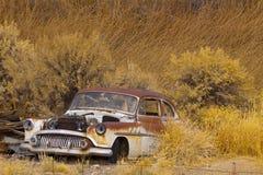 Carro oxidado abandonado fotos de stock