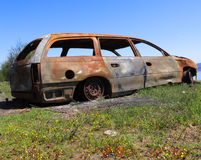 Carro oxidado velho Imagens de Stock Royalty Free