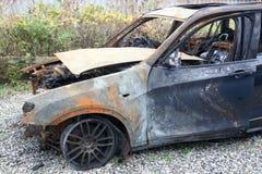 Carro para fora queimado Foto de Stock Royalty Free