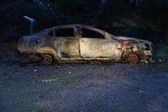 Carro para fora queimado Imagem de Stock Royalty Free