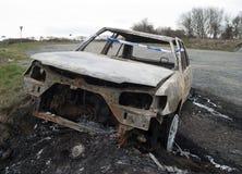 Carro para fora queimado. Fotografia de Stock