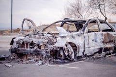 Carro para fora queimado 2 Foto de Stock