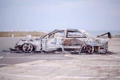 Carro para fora queimado 8 Foto de Stock Royalty Free