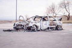 Carro para fora queimado 1 Fotos de Stock Royalty Free