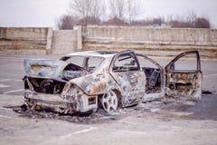 Carro para fora queimado 6 Fotografia de Stock