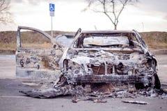 Carro para fora queimado 3 Imagem de Stock Royalty Free