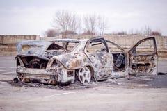 Carro para fora queimado 5 Imagem de Stock Royalty Free