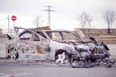 Carro para fora queimado 4 Imagem de Stock Royalty Free