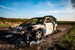 Carro para fora queimado Fotografia de Stock Royalty Free
