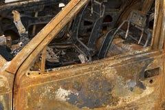 Carro para fora queimado interior Imagem de Stock Royalty Free