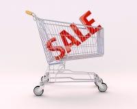 Carro para las compras y la venta fotos de archivo libres de regalías