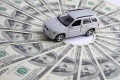 Carro para o dinheiro Imagem de Stock Royalty Free