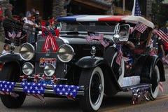 Carro patriótico do vintage Foto de Stock Royalty Free