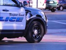 Carro-patrulha da polícia da praia de Newport Foto de Stock Royalty Free