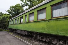 Carro personal del tren de Joseph Stalin en Gori, Georgia Imagen de archivo libre de regalías