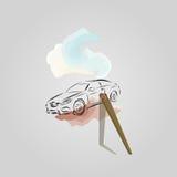 Carro pintado Imagens de Stock Royalty Free