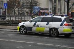 CARRO POLICIAL DINAMARQUÊS Imagens de Stock