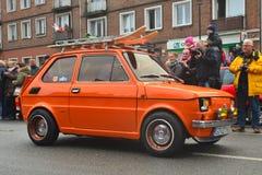 Carro polonês velho Polski Fiat 126p em uma parada Imagem de Stock Royalty Free