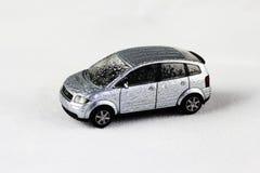 Carro prateado do brinquedo Foto de Stock Royalty Free