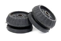 Carro preto do 'absorber' de choque do rolamento da sustentação Fotografia de Stock