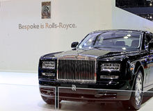 Carro preto do luxo de Rolls Royce Fotografia de Stock Royalty Free