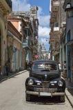 Carro preto em Havana, Cuba Fotografia de Stock