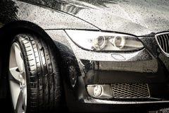 Carro preto luxuoso Imagem de Stock