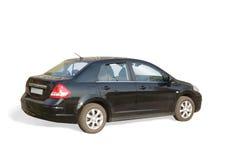 Carro preto no branco Fotos de Stock