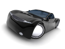 Carro preto no fundo branco. Imagens de Stock Royalty Free